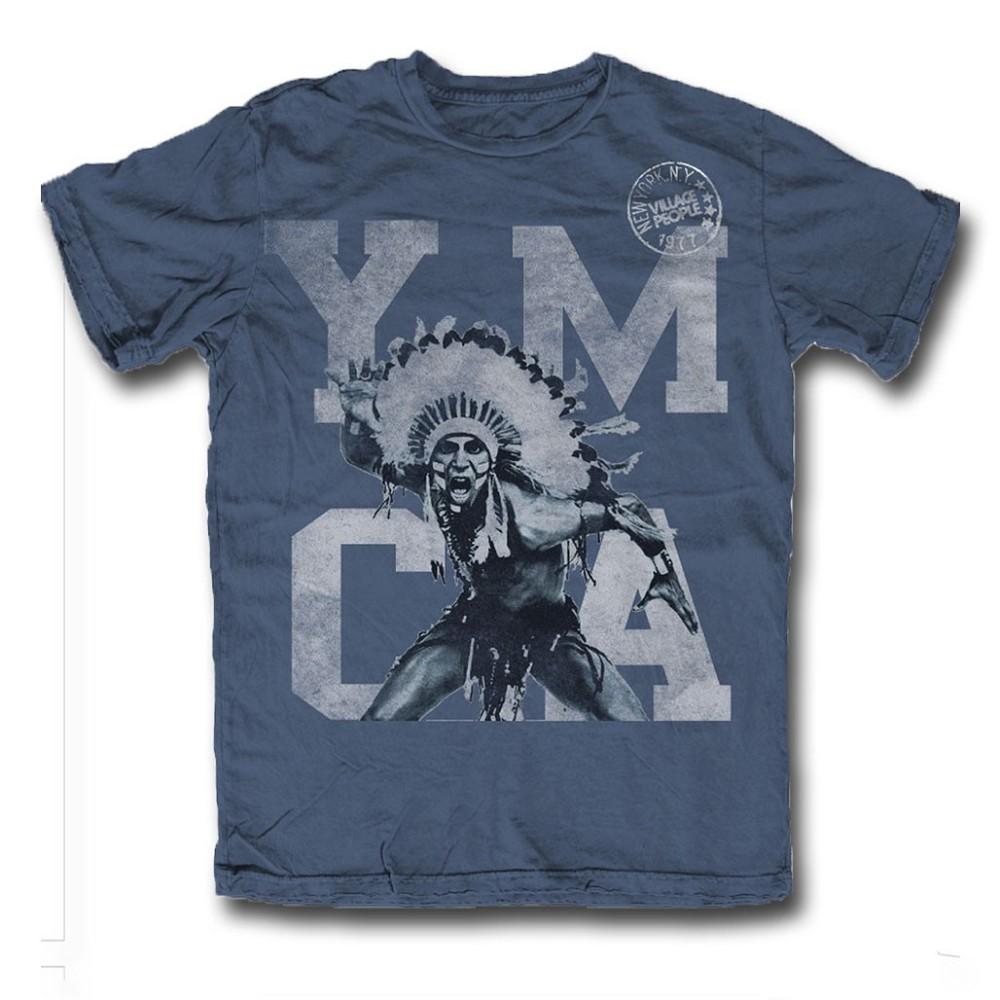 c8ee5e7e4522 Tričko Village People - Y.M.C.A. Indian - Blue