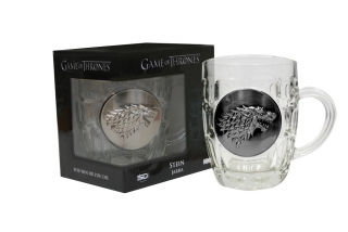 Sklený krígeľ Game of Thrones - Stark Crystal