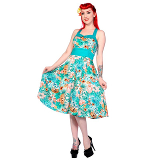 Vintage šaty značky Dancing Days - Tropical Blue Floral