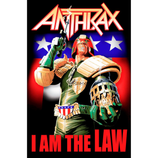 Textilný plagát Anthrax - I Am The Law