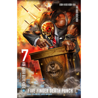 Textilný plagát Five Finger Death Punch - And Justice For None