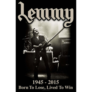 Textilný plagát Lemmy - Lived To Win