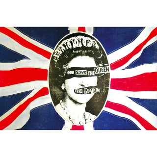 Textilný plagát Sex Pistols - God Save The Queen