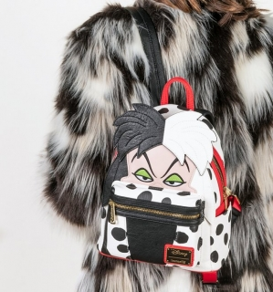 Mini batoh Loungefly - Disney 101 Dalmations - Cruella