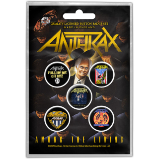 Set odznakov Anthrax - Among the Living