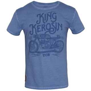 Tričko King Kerosin - Oilwashed - TCB Light Blue