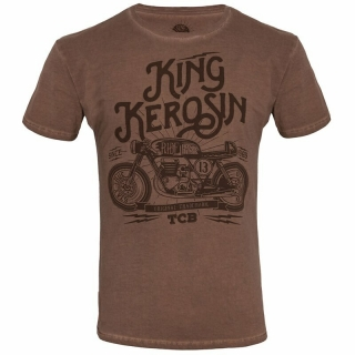 Tričko King Kerosin - Oilwashed - TCB Brown