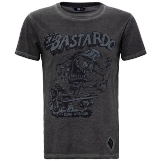Tričko King Kerosin - Dirtywash - El Bastardo Steel Grey