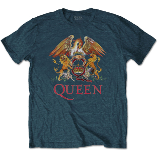 Tričko Queen - Classic Crest (Denim Blue)