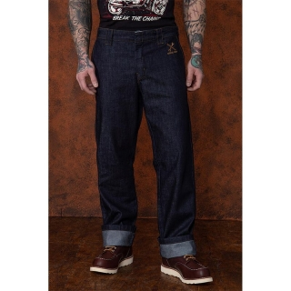 Pánske jeansy King Kerosin - Workwear Dark Blue