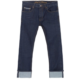 Pánske jeansy King Kerosin - Selvedge Rinsed Wash