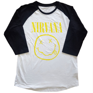 Raglan tričko Nirvana - Yellow Smiley