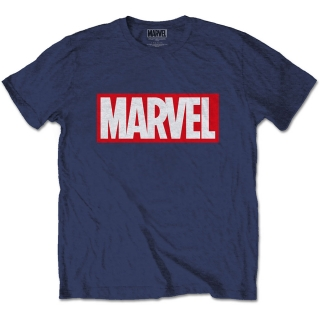 Tričko Marvel Comics - Marvel Box Logo blue