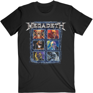 Tričko Megadeth - Vic Head Grid