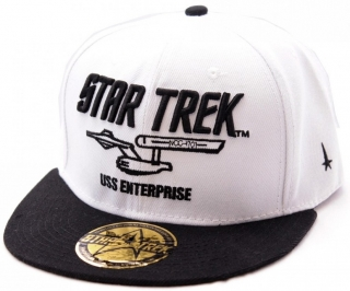Šiltovka - Star Trek - Black Text Cap - White