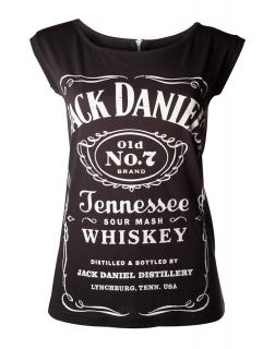 Dámske tričko - Jack Daniels Black, With Zipper On Back