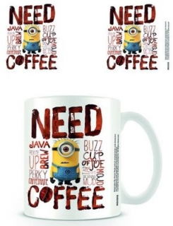 Hrnček - Minions - Despicable Me - Need Coffee Mug