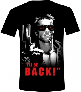 Tričko -The Terminator - I'll Be Back Black