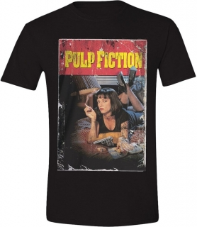 Tričko - Pulp Fiction - Smoking Stance, Black