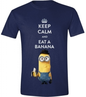 Tričko - Minions Movie - Keep Calm Navy