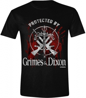 Tričko - The Walking Dead - Grimes/Dixon Protection Logo