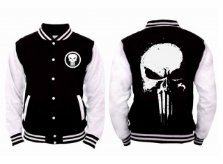Bavlnená bunda The Punisher - Skull Logo Black/White