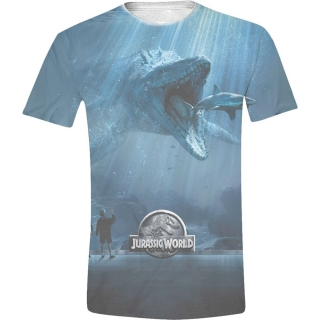 Tričko - Jurassic World - Mosasaurus Full Printed, Blue