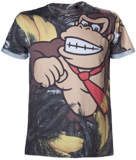 Tričko - Nintendo - Donkey Kong All over, Grey