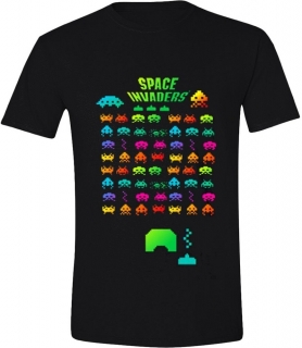 Tričko - Space Invaders - Multi Coloured