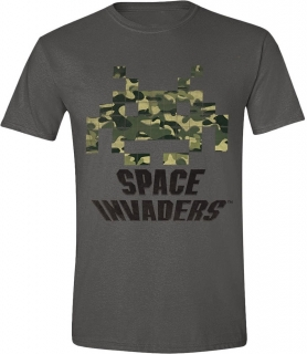 Tričko - Space Invaders - Camo, Grey