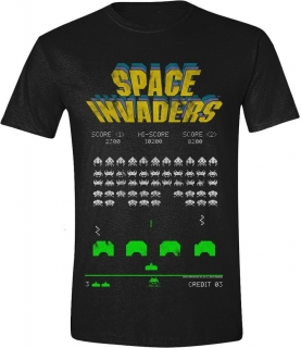 Tričko - Space Invaders - Classic Screenshot, Black