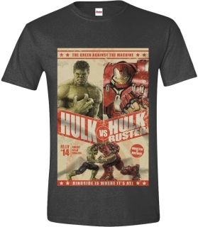 Tričko - The Avengers - Hulk vs Hulkbuster, Anthracite