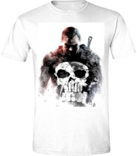 Tričko -The Punisher - Smoke, White