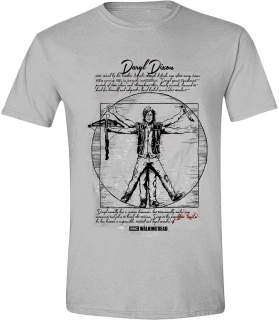 Tričko - The Walking Dead - DD Vitruvian Man Grey