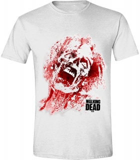 Tričko - The Walking Dead - Zombie Blood Face, White