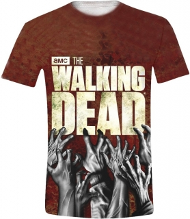 Tričko - The Walking Dead - Hands Logo Full Printed
