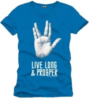 Tričko - Star Trek - Live Long And Prosper, Turquoise