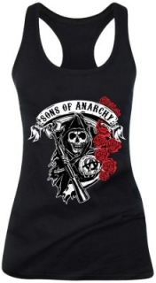 Dámsky top - Sons of Anarchy - Reaper With Roses