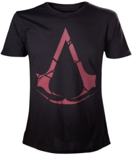 Tričko Assassins Creed - Red Logo, Black