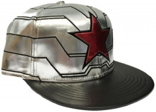 Šiltovka - Captain America - Winter Soldier Cap - Silver/Black