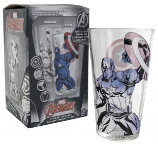 Pohár - Captain America - Captain America Colour Change Glass
