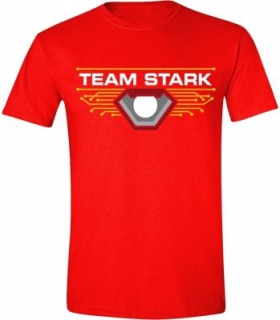 Tričko Captain America - Team Stark - Red