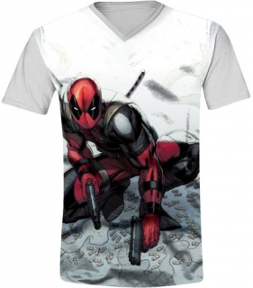 Tričko - Deadpool - Bullets, Grey