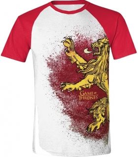 Tričko - Game of Thrones - Painted Lannister Raglan