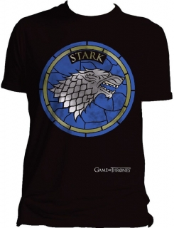 Tričko - Game of Thrones - Stark Stain Glass