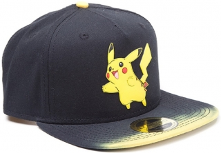 Šiltovka - Pokémon - Dip Dye Snapback Cap with Rubber Pikachu Patch