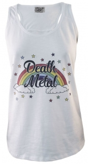 Dámske tielko Darkside - Death Metal White Slub