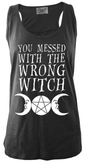 Dámske tielko Darkside - You Messed With The Wrong Witch Black Slub