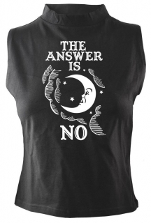 Dámsky top Darkside - The Answer Is No High Neck