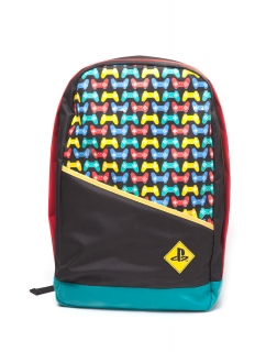 Batoh - PlayStation - Backpack with Colored Controllers Print